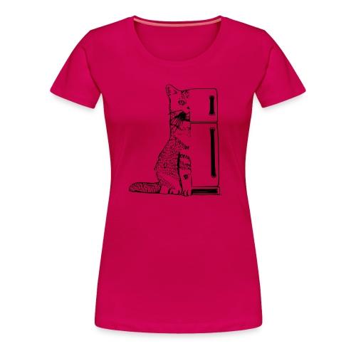 Cat Fridge [f] - Women's Premium T-Shirt