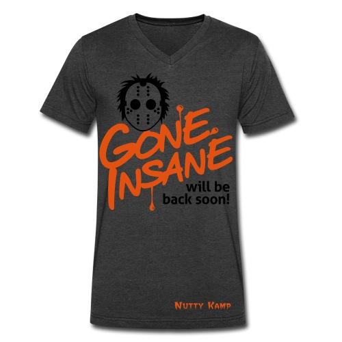 Gone Insane Graphic T-shirt - Men's V-Neck T-Shirt by Canvas