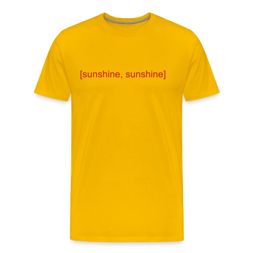 [sunshine, sunshine] - Men's Premium T-Shirt