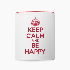 Keep calm and be happy Bottles & Mugs
