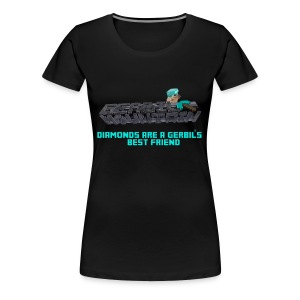 GM Minecraft Diamonds (Female) - Women's Premium T-Shirt