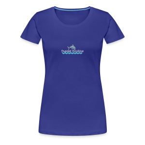 Dupont Dophins with Wave - Women's Premium T-Shirt