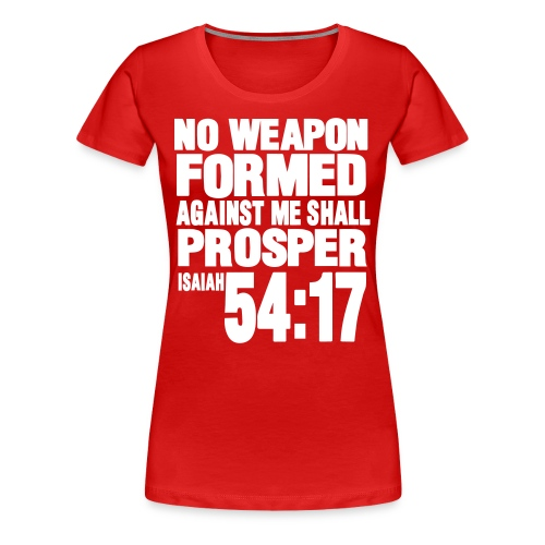 No Weapon Women's Premium T-Shirt Red and White - Women's Premium T-Shirt