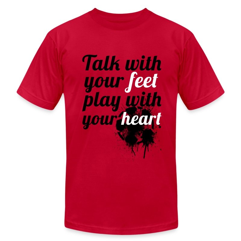 Heart| NEW! - Men's T-Shirt by American Apparel