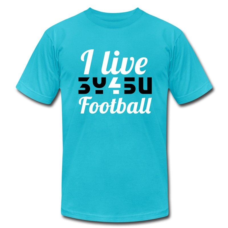 Skiller| Live4Football.png - Men's T-Shirt by American Apparel