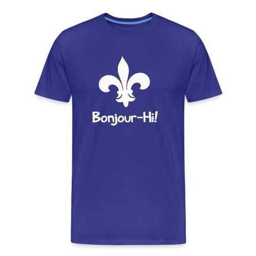 Bonjour-Hi! - Men's Premium T-Shirt