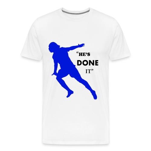 Drogba - He's Done It - Mens T-Shirt - Men's Premium T-Shirt