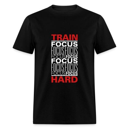 Train(focus)Hard - Men's T-Shirt