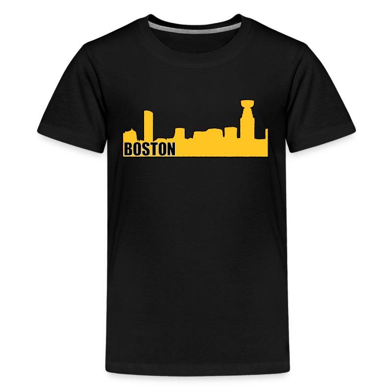 Boston bruins hockey cup skyline apparel t shirt spreadshirt for Boston bruins vintage shirt