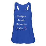 Tanks ~ Women's Flowy Tank Top by Bella ~ The longer the wait - tank ROYAL BLUE