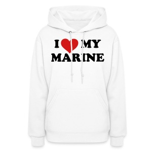 I heart My Marine Sweatshirt - WHITE - Women's Hoodie