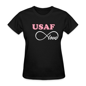 USAF Infinity Love - BLACK - Women's T-Shirt