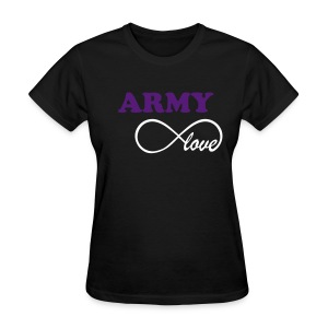 ARMY Infinity Love - BLACK - Women's T-Shirt