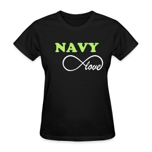 NAVY Infinity Love - BLACK - Women's T-Shirt
