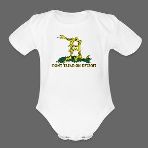 Dont Tread On Detroit - Short Sleeve Baby Bodysuit
