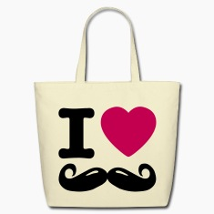 i love moustache / I heart moustache Bags & backpacks