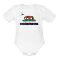 Baby & Toddler Shirts ~ Baby Short Sleeve One Piece ~ Detroit Republic
