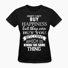 Women's Bitcoin Happy Money T Shirt