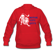 Hoodies ~ Women's Hoodie ~ Motor City Kitty