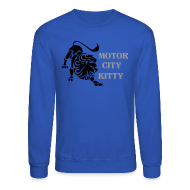 Long Sleeve Shirts ~ Crewneck Sweatshirt ~ Motor City Kitty