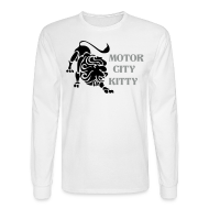 Long Sleeve Shirts ~ Men's Long Sleeve T-Shirt ~ Motor City Kitty