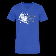 T-Shirts ~ Men's V-Neck T-Shirt by Canvas ~ Motor City Kitty