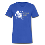 T-Shirts ~ Men's V-Neck T-Shirt by Canvas ~ Motor City Kitty