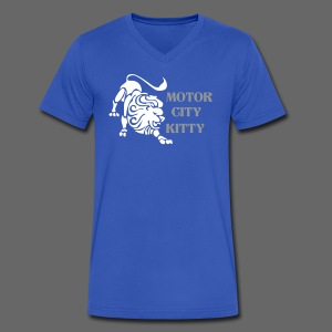 Motor City Kitty - Men's V-Neck T-Shirt by Canvas