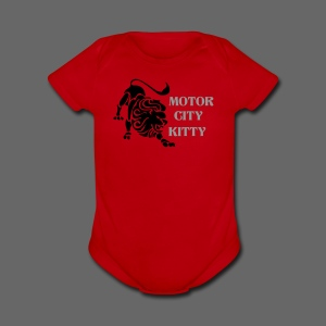 Motor City Kitty - Short Sleeve Baby Bodysuit