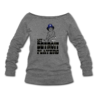 Long Sleeve Shirts ~ Women's Wideneck Sweatshirt ~ My Detroit Players