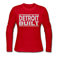 Long Sleeve Shirts ~ Women's Long Sleeve Jersey T-Shirt ~ Detroit Built