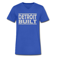 T-Shirts ~ Men's V-Neck T-Shirt by Canvas ~ Detroit Built