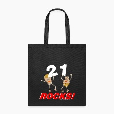 White 21 Rocks Bags & backpacks