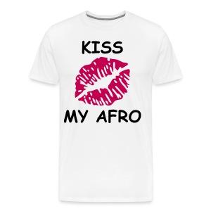Kiss my Afro (Plus) - Men's Premium T-Shirt