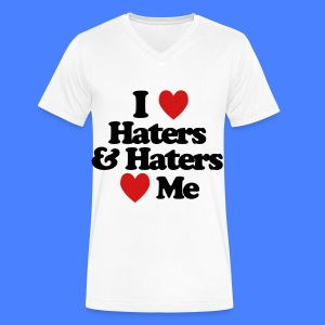 I Love Haters & Haters Love Me T-Shirts - Men's V-Neck T-Shirt by Canvas