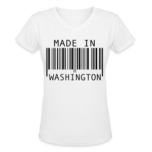 Made in Washington - Women's V-Neck T-Shirt