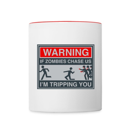Warning Zombie - Contrast Coffee Mug