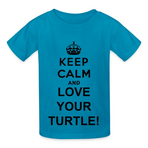Keep Calm and Love Your Turtle T Shirt for Kids - Kids' T-Shirt