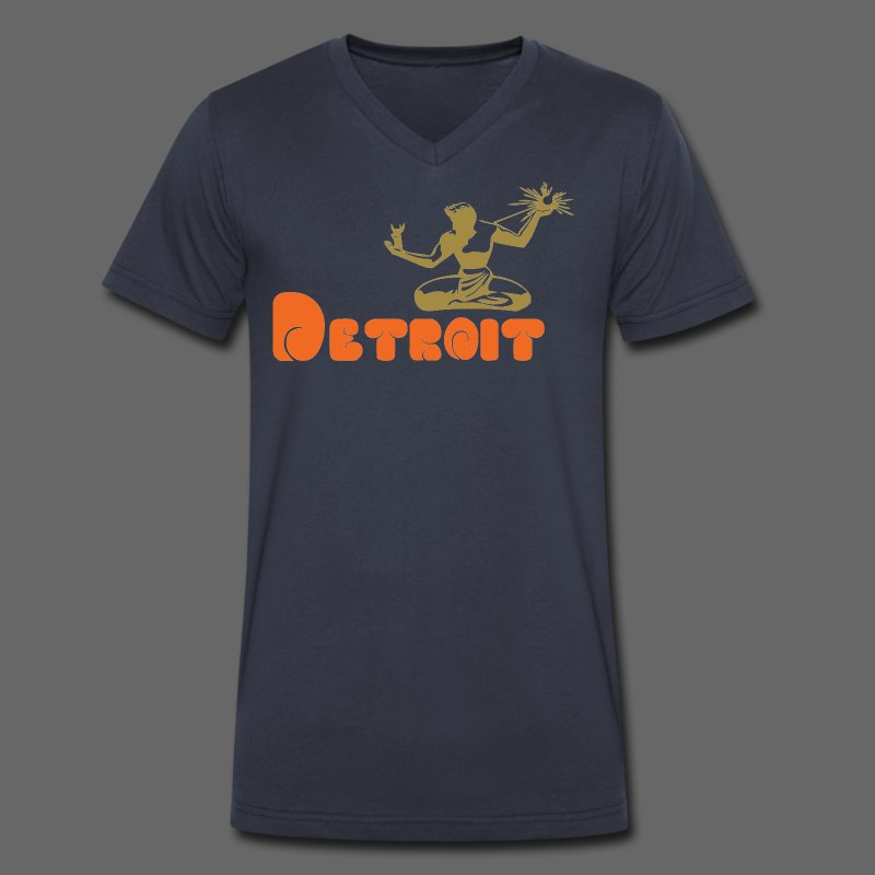 Spirit of Detroit - Men's V-Neck T-Shirt by Canvas