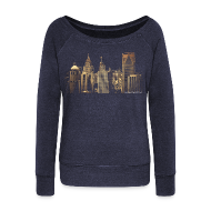 Long Sleeve Shirts ~ Women's Wideneck Sweatshirt ~ I Love This City