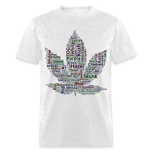 WEED STRAINS TEE SHIRT - Men's T-Shirt