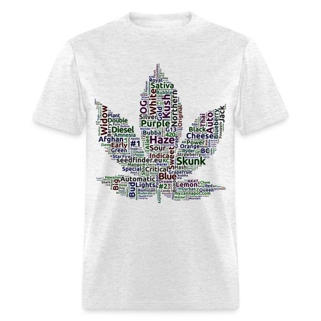 WEED STRAINS TEE SHIRT   Men's T-Shirt