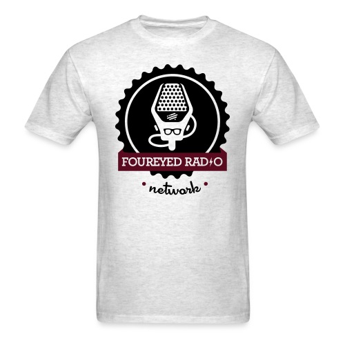 Four Eyed Radio Logo Tee (Light) - Men's T-Shirt