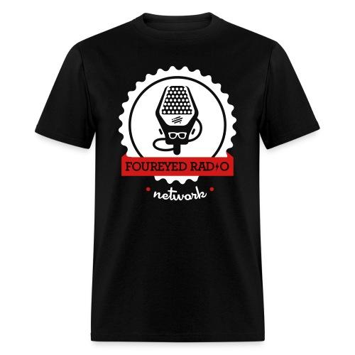 Four Eyed Radio Logo Tee (Dark) - Men's T-Shirt