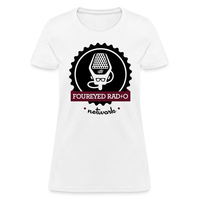 Women's Four Eyed Radio Logo Tee (Light)