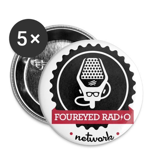 Four Eyed Radio Small Button - Small Buttons