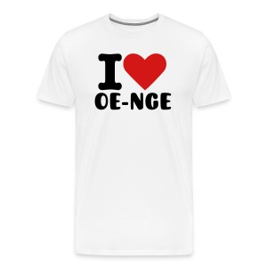 I love oe-nge - Men's Premium T-Shirt