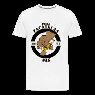T-Shirts ~ Men's Premium T-Shirt ~ Puro Zacatecas Sax #1   Caballero