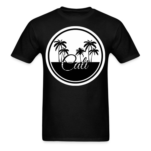 Cali Black & White  - Men's T-Shirt