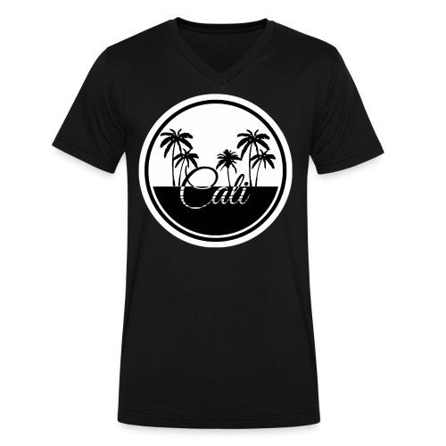 Cali Black & White  - Men's V-Neck T-Shirt by Canvas